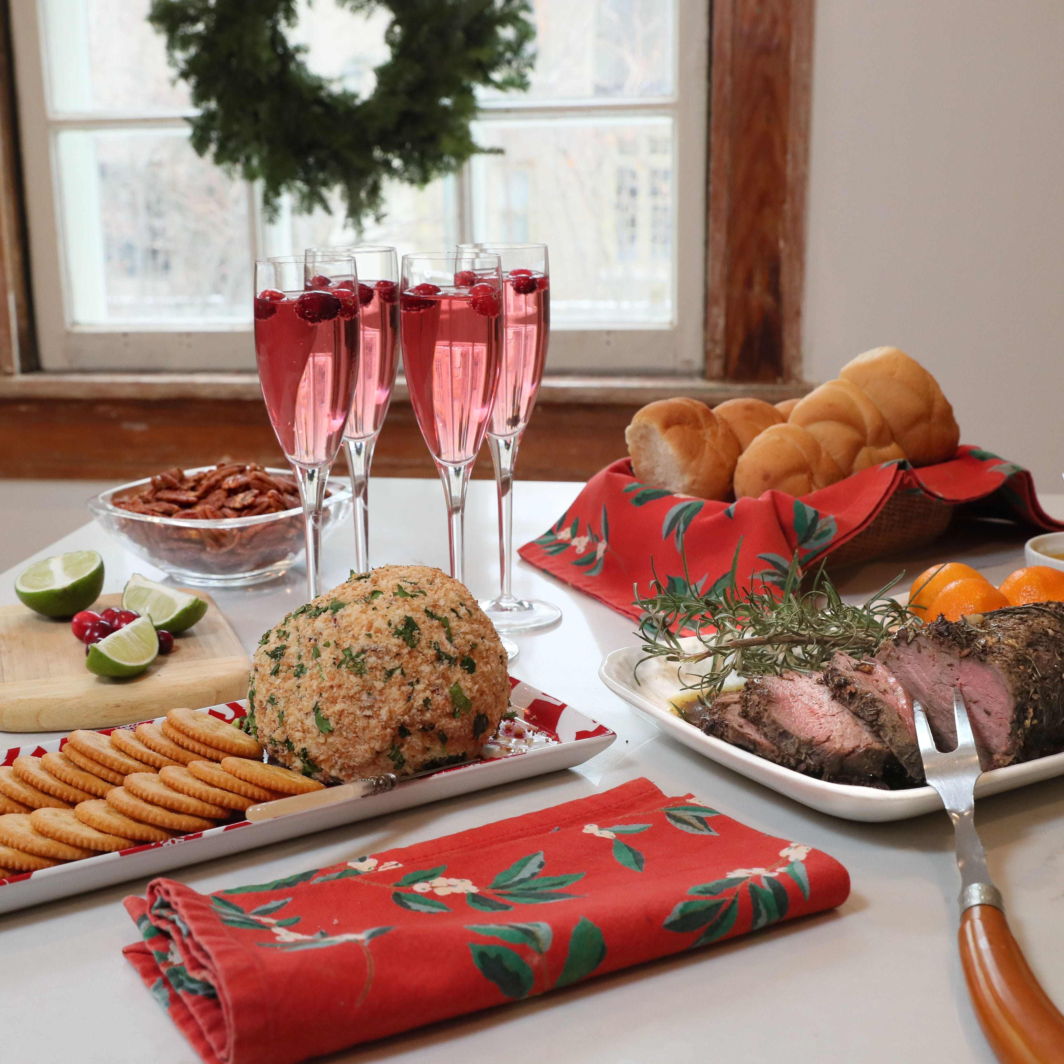 Cook up a peaceful holiday open house with a buffet that can be made ahead