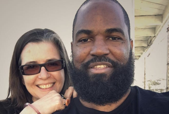 """Earlonne Woods, co-host of the """"Ear Hustle"""" podcast, as he's being released from San Quentin State Prison, with friend and collaborator Nigel Poor. MoFA will host A Conversation with Nigel Poor & Earlonne Woods from Ear Hustle on  Thursday, Feb. 4, 6-7:30 p.m."""