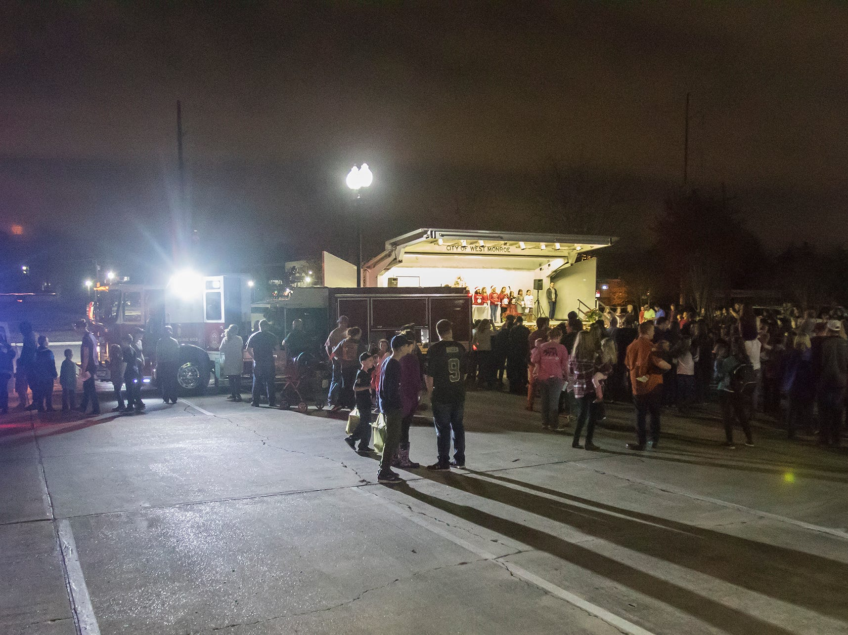 West Monroe held its first annual Christmas tree lighting at City Hall in West Monroe, La. on Nov. 29. The event featured trees decorated by the city's elementary schools.