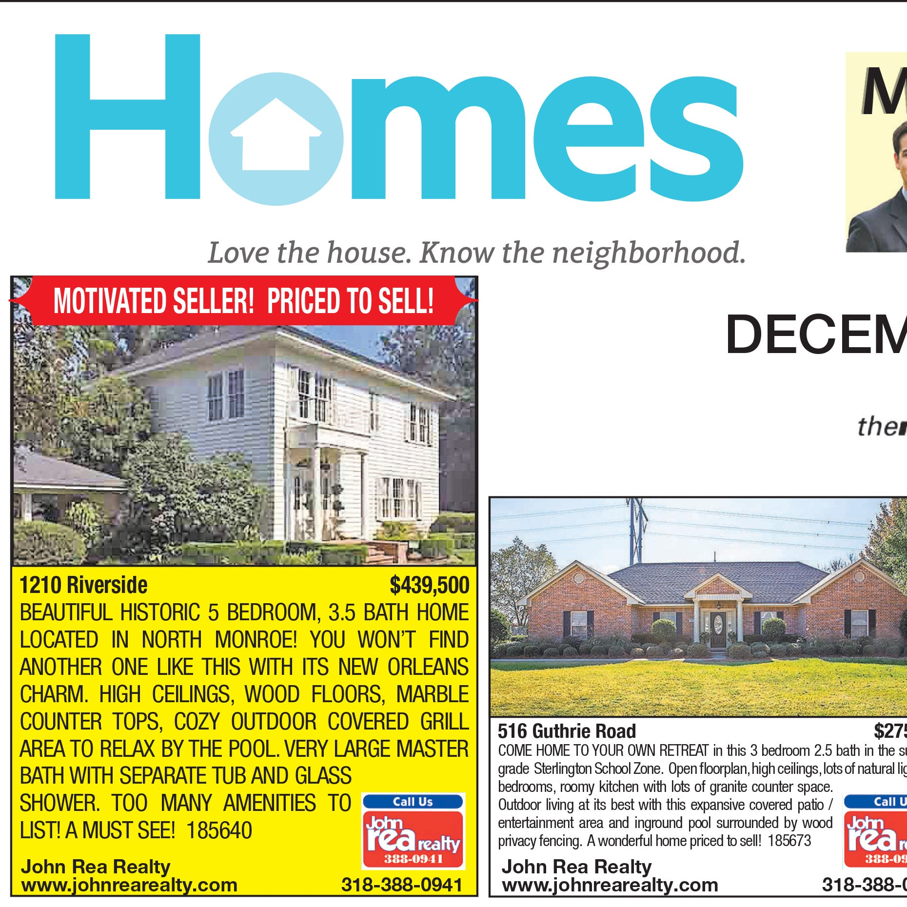 Homefinder: Dec. 2, 2018