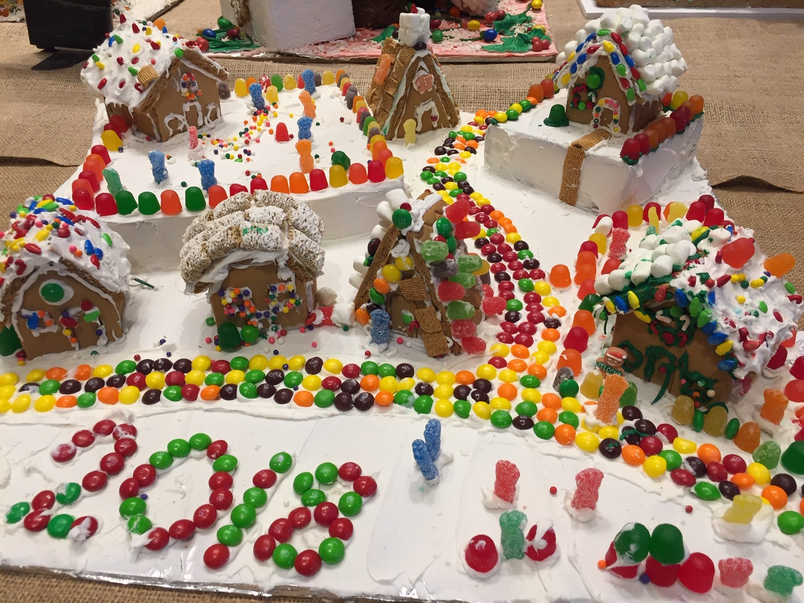 """Gi Family category.ngerland"" by the Yorgey Family of Morristown at the 2018 Gingerbread Wonderland at the Frelinghuysen Arboretum."