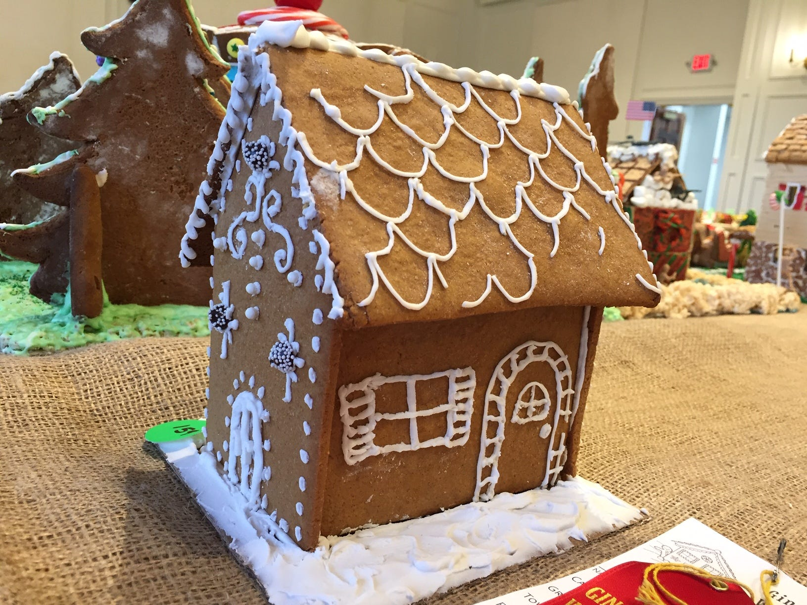 """The Clarkza House"" by Laura Jean and Tess of Morristown, grade six, at the Gingerbread Wonderland at the Frelinghuysen Arboretum. Child category."