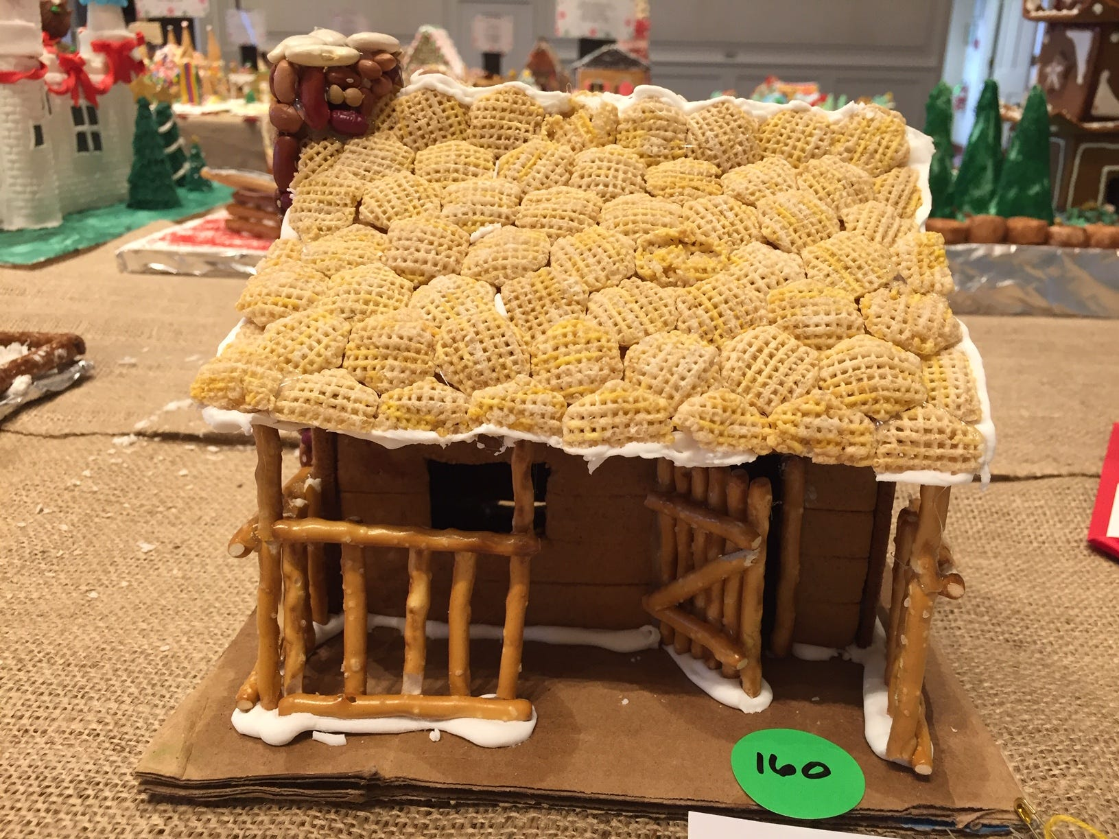 """Checkers Camp"" by Willieeee Co. of Morristown at the Gingerbread Wonderland at the Frelinghuysen Arboretum."