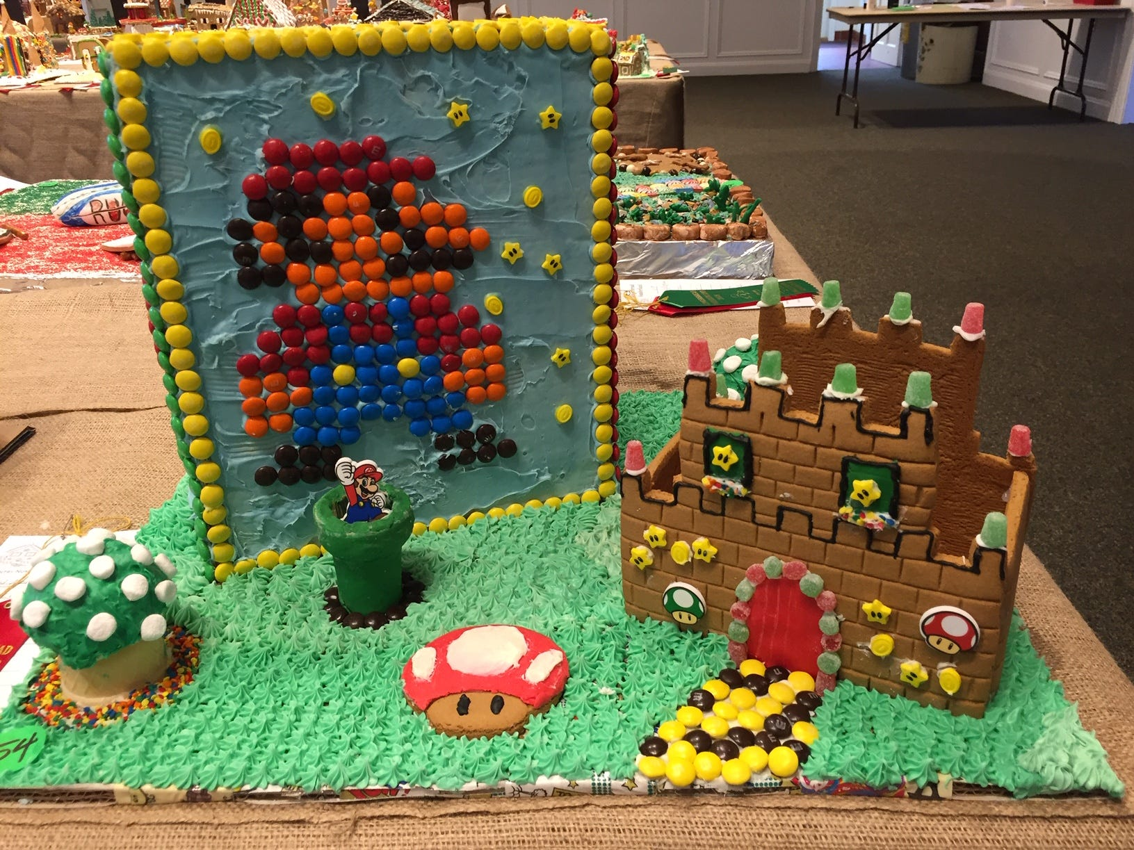 """Mario Time!"" by Joey, 9,  and Anna Stallari, 7, of Denville, at the 2018 Gingerbread Wonderland at the Frelinghuysen Arboretum. Child category."