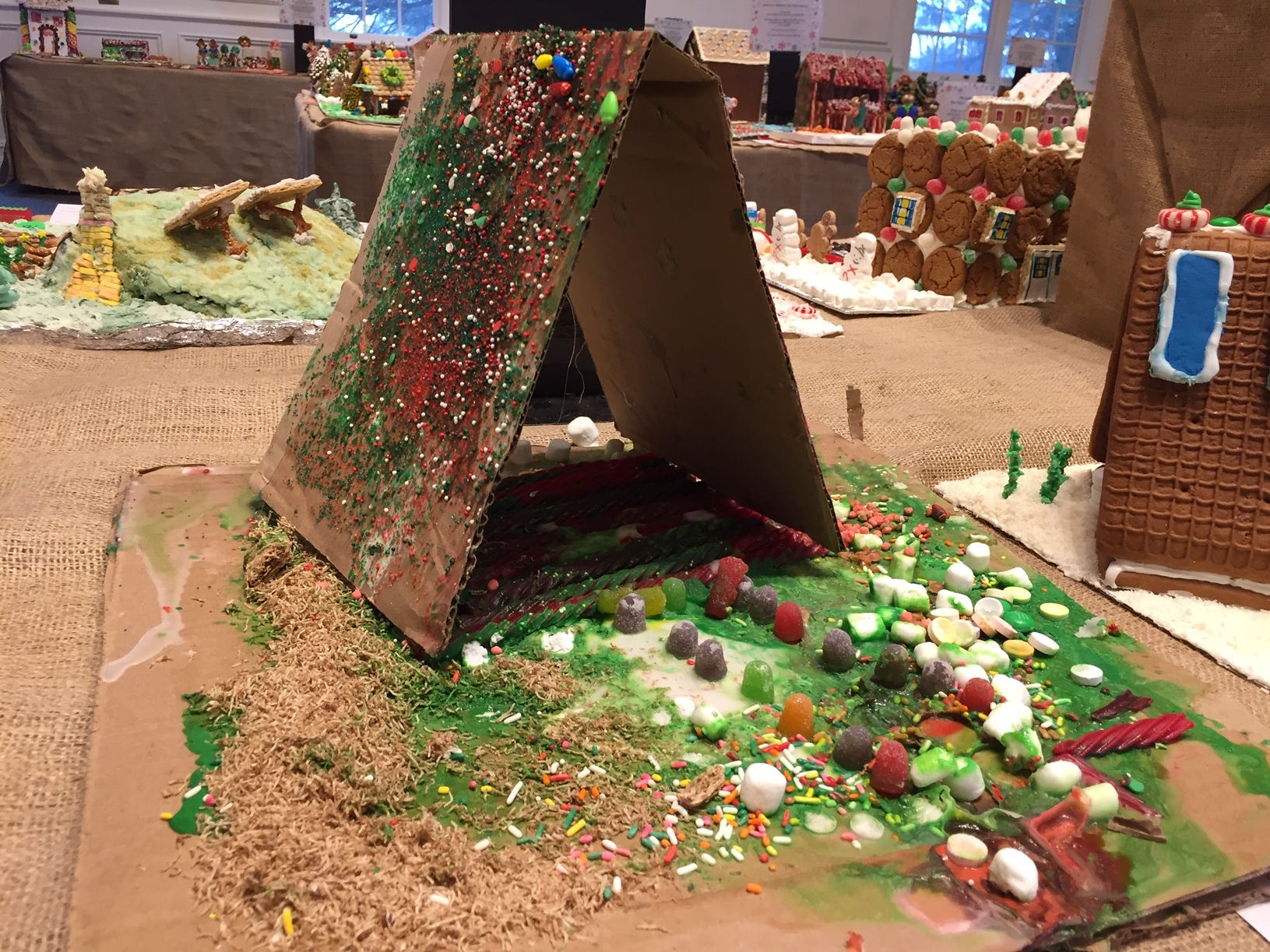 """A Tent"" from Chatham, first grade, at the Gingerbread Wonderland at the Frelinghuysen Arboretum. Child category."