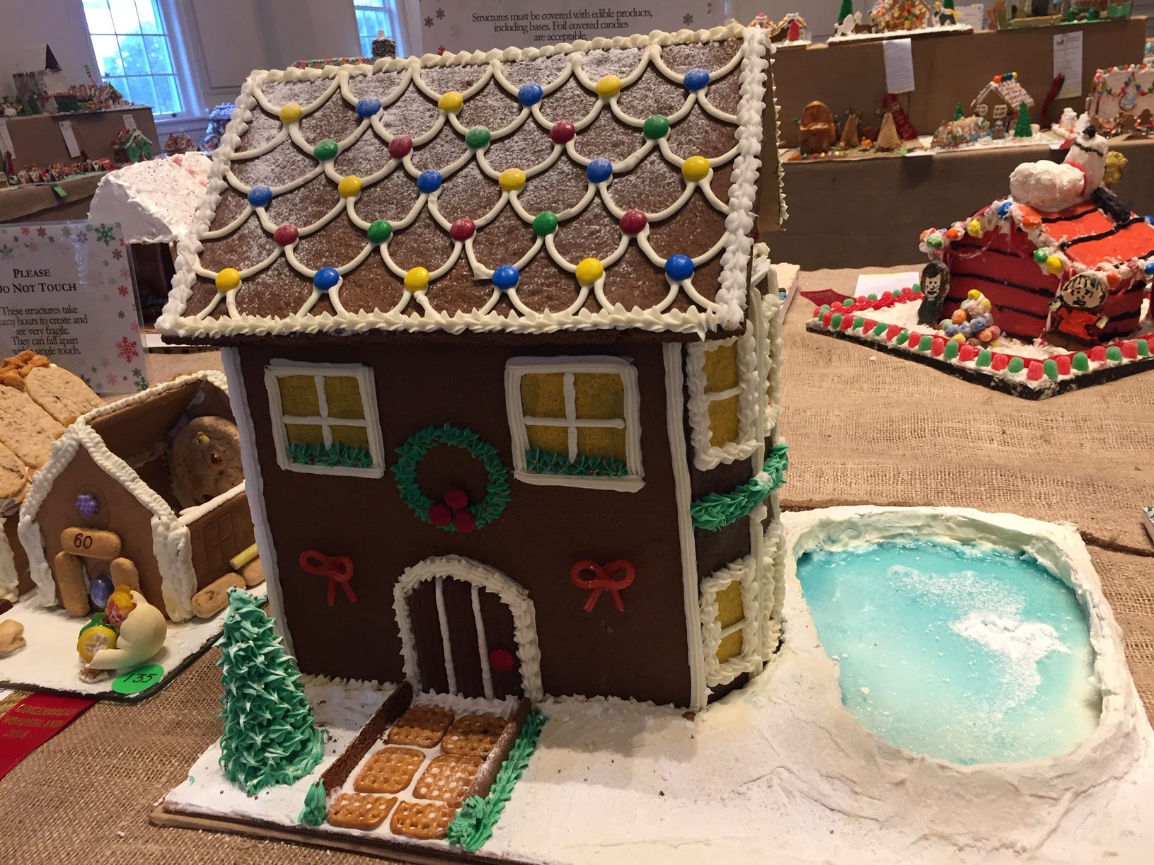 """Gingerbread Wonderland"" by Emily Render of Nutley at the Gingerbread Wonderland at the Frelinghuysen Arboretum. Adult category."