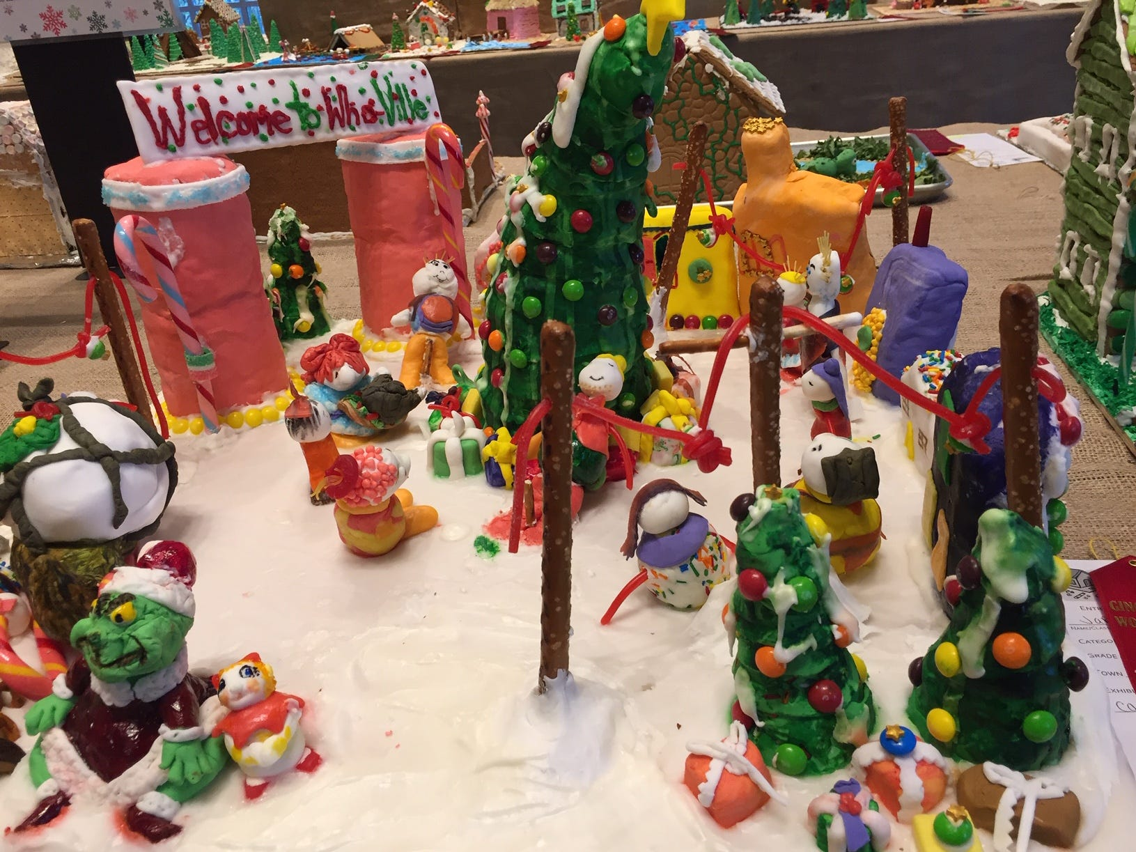 """Christmas In Whoville"" from Mountain Lakes at the 2018 Gingerbread Wonderland at the Frelinghuysen Arboretum. Family category."