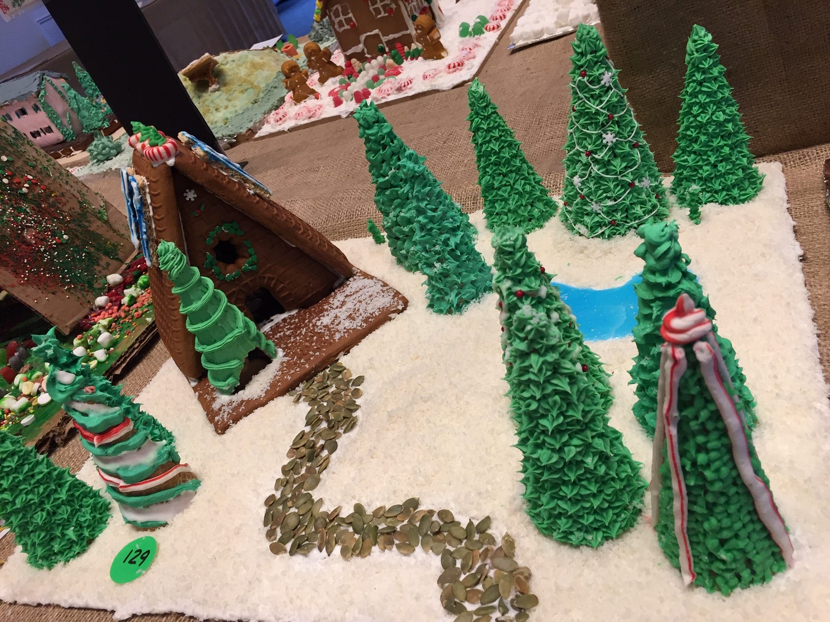 """A Walk Through the Woods"" by Megan of Summit, grade 12, at the Gingerbread Wonderland at the Frelinghuysen Arboretum. Child category."