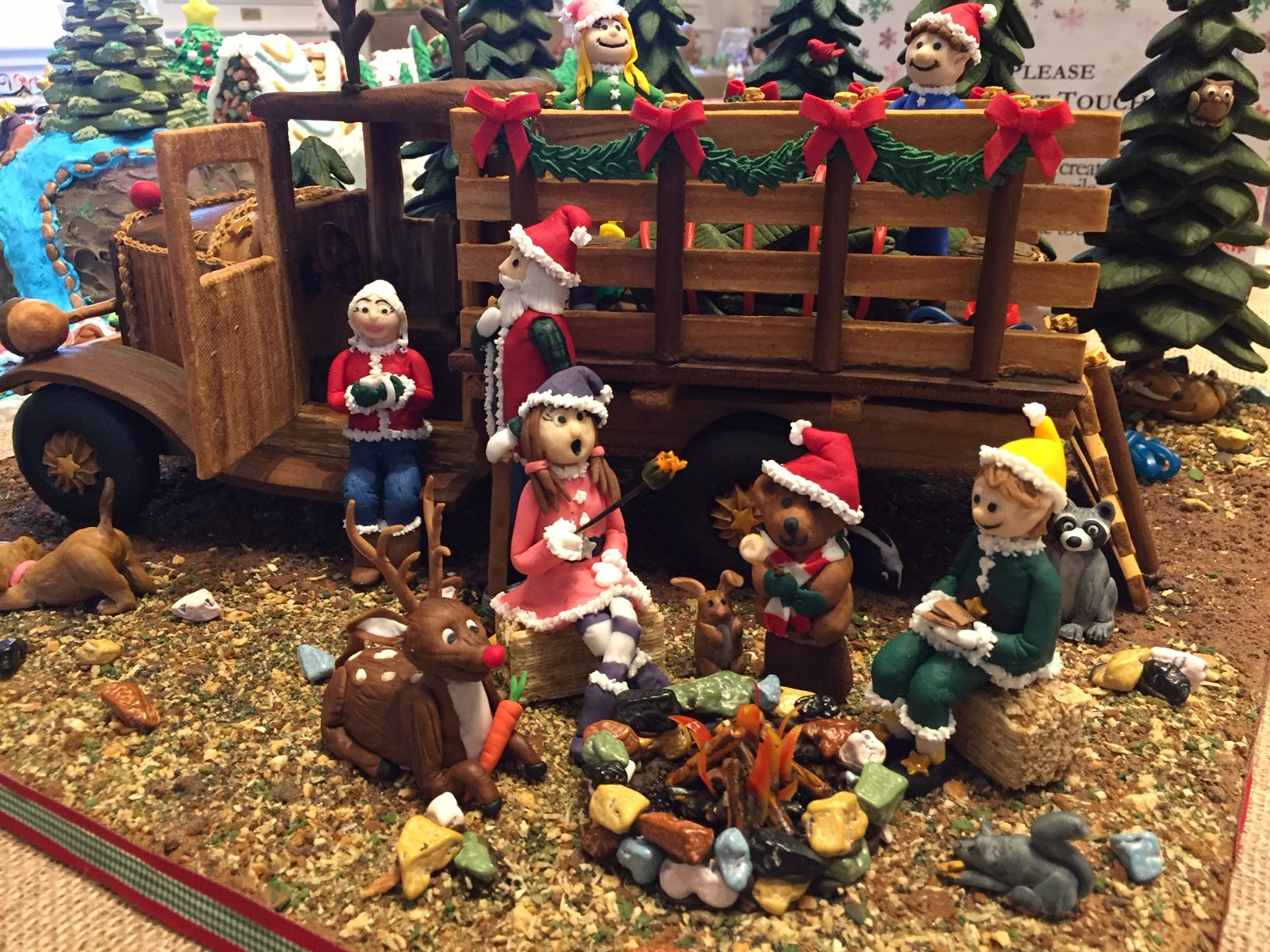 """Deck the Haul!"" by Barb Amabile of Florham Park at the Gingerbread Wonderland at the Frelinghuysen Arboretum. Adult category."