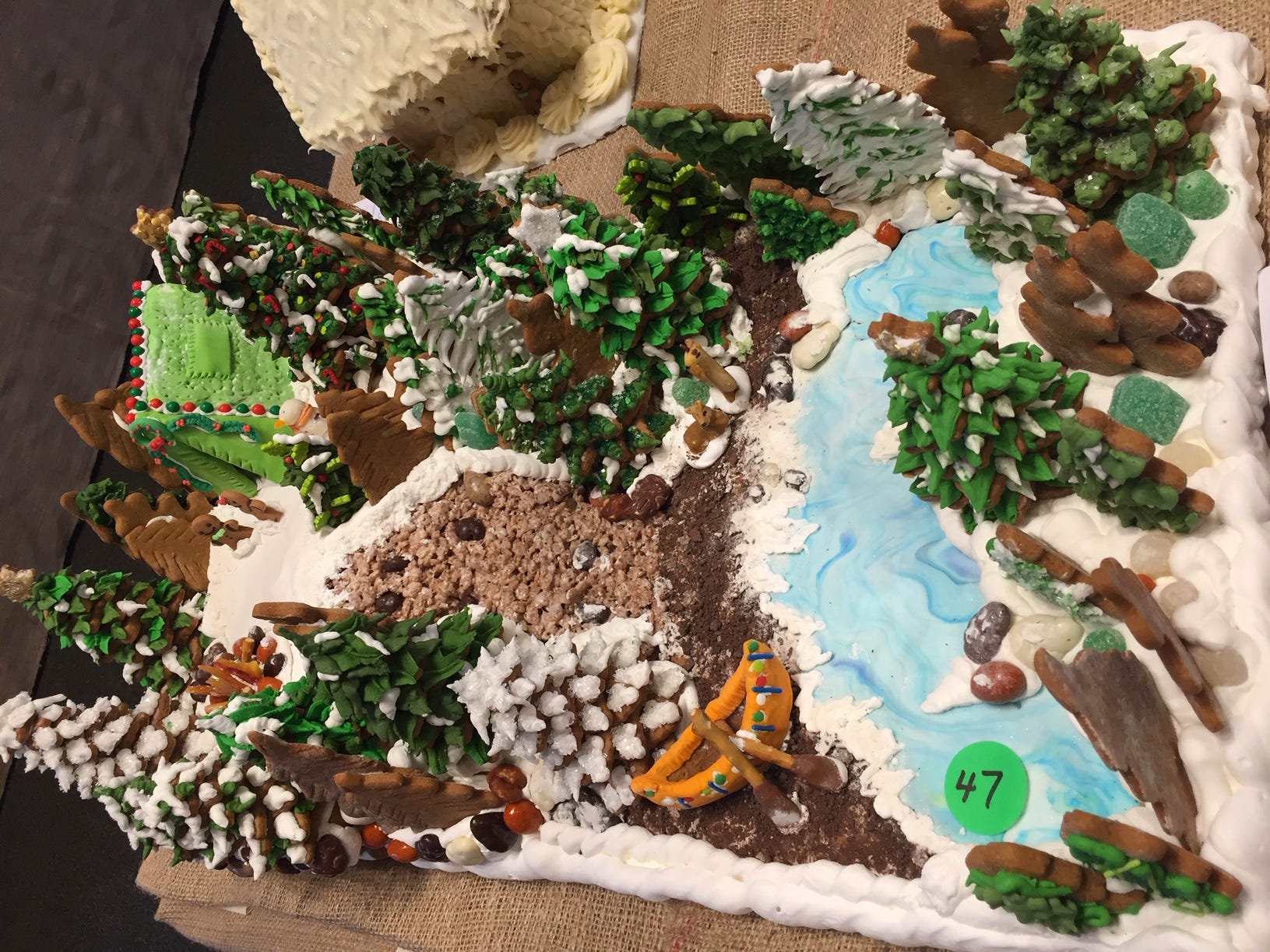 """Ginger Forest State Park"" by Janna Tolomieri of East Hanover, at the Gingerbread Wonderland at the Frelinghuysen Arboretum. Adult category."