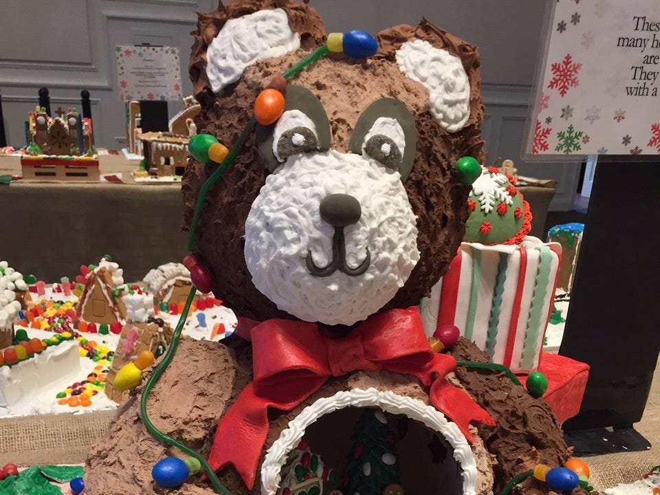 """Have Yourself a Very Beary Christmas!"" by the Rice Family of Long Valley at the Gingerbread Wonderland at the Frelinghuysen Arboretum. Family category."