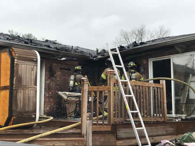 Fire heavily damaged a home on Diana Street in Murfreesboro Friday morning. No one was home at the time.