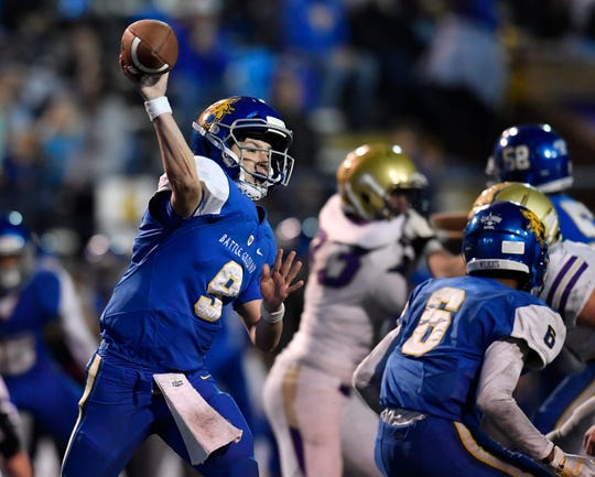 BGA's Nick Semptimphelter was 226 of 330 passing for 3,187 yards with 36 touchdowns and 11 interceptions in 2018.