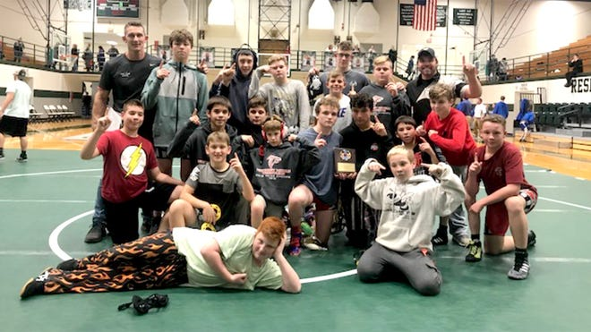 Fairview Middle School Falcons Wrestling Team crowned MCAC Dual Champions for the second straight year November 17, 2018.