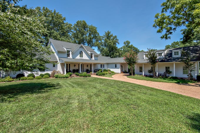 The home for sale at 5292 Poor House Hollow Road sits on 17 acres of bucolic land near the Natchez Trace Parkway.