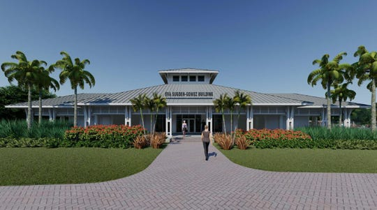 A rendering of the main building at Baker Park. Naples City Council approved the building's design at its Nov. 7, 2018, meeting.