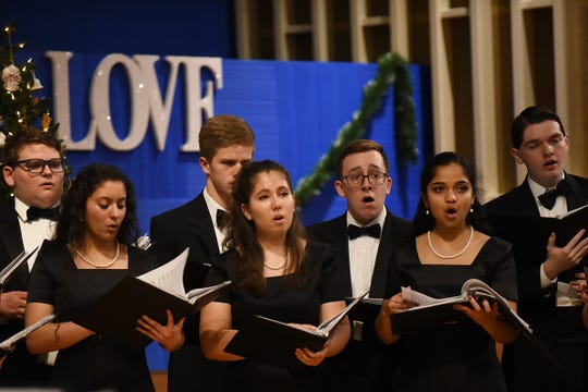 Morris Knolls Madrigal Choir during a 2018 dress rehearsal at Denville Community Church in Denville prior to their performance at the White House. Some pastors are recommending congregants and choirs don't sing during the holidays — or find a creative, safe way to carol.