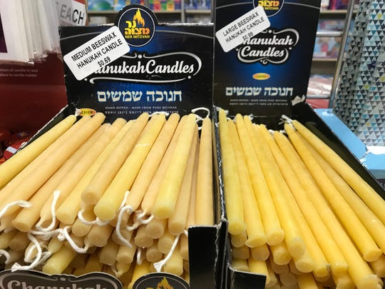 Hanukkah candles. The ancients used oil