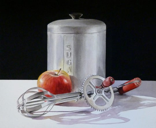 """Apple Pie"" - a watercolor painting by Penny Thomas Simpson."