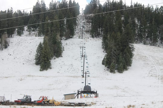 Cloudcroft's ski slopes haven't received enough snow yet this year to be open regularly.