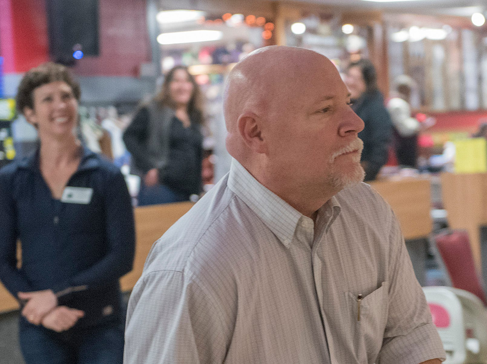 Farmington Hills Mayor Ken Massey begins his approach.