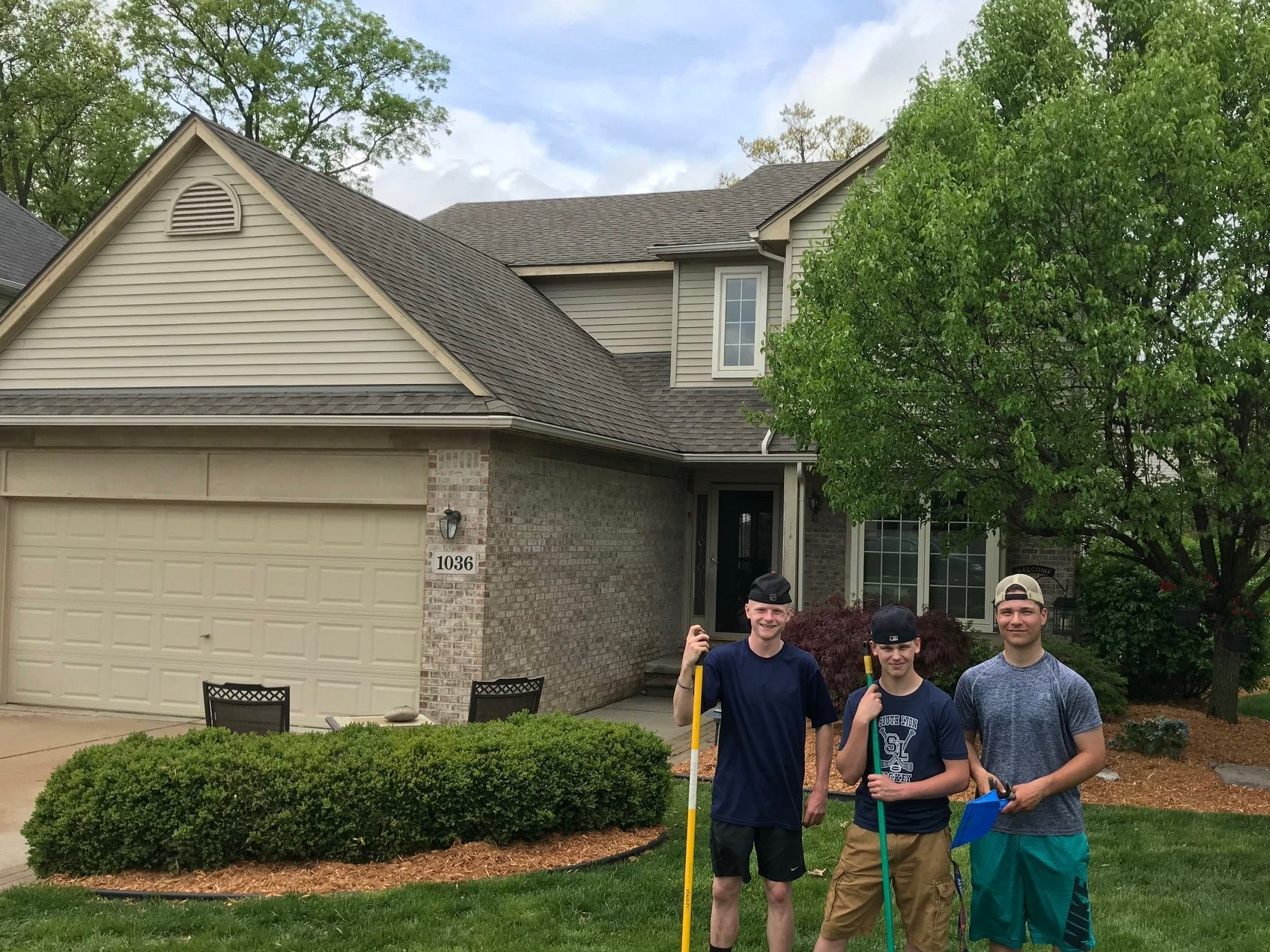 Members of the South Lyon Unified hockey team spent last spring selling and installing mulch around the community in a fund-raising effort to help defray costs of their renovated locker room at the Kensington Valley Ice House.