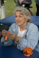 Ginny Morris, volunteering at the Farmington Hills Fly and Fry on Aug. 15, 2017.
