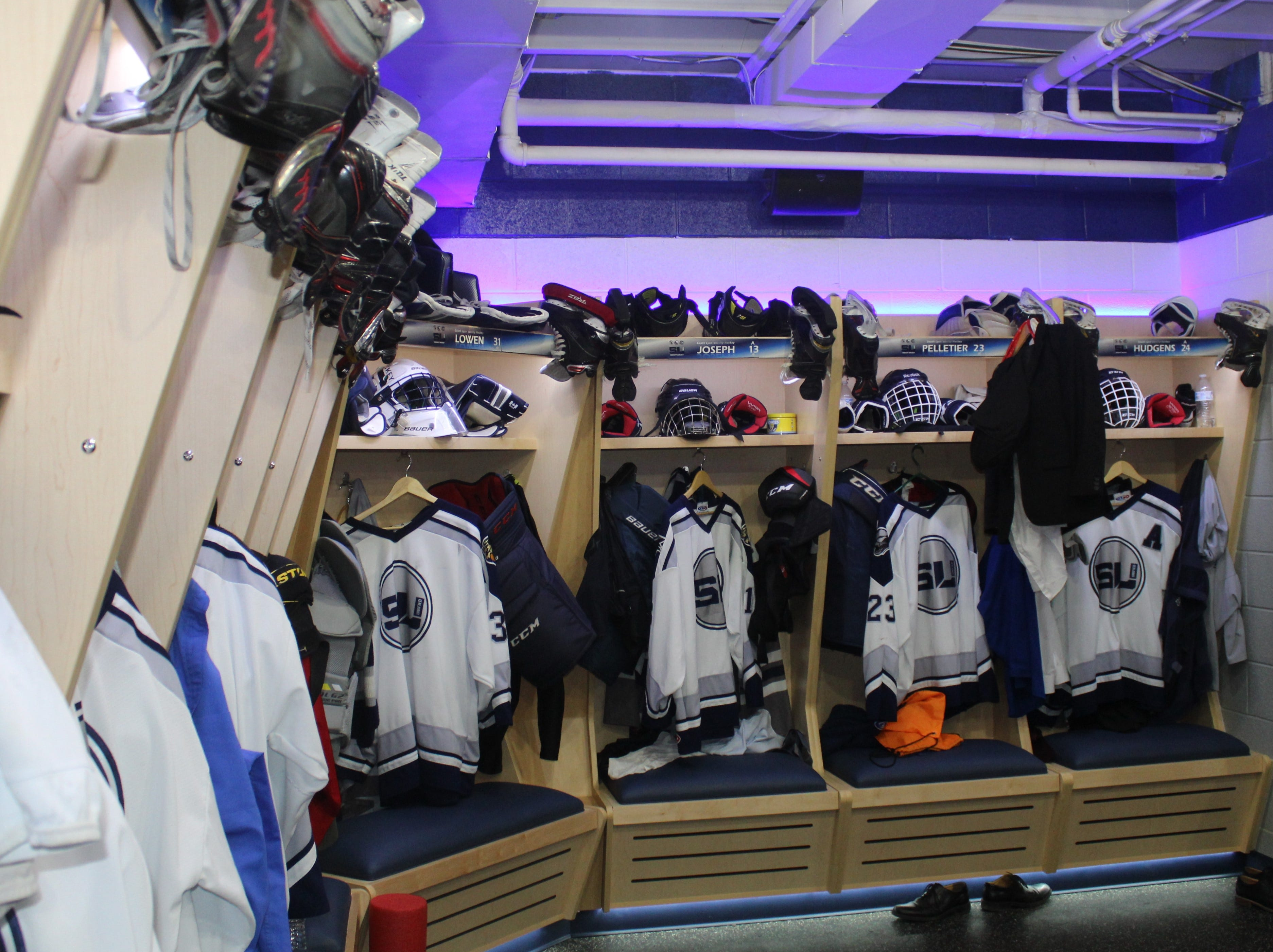 South Lyon Unified's spacious new locker room was financed primarily by corporate donations and team fund raisers.