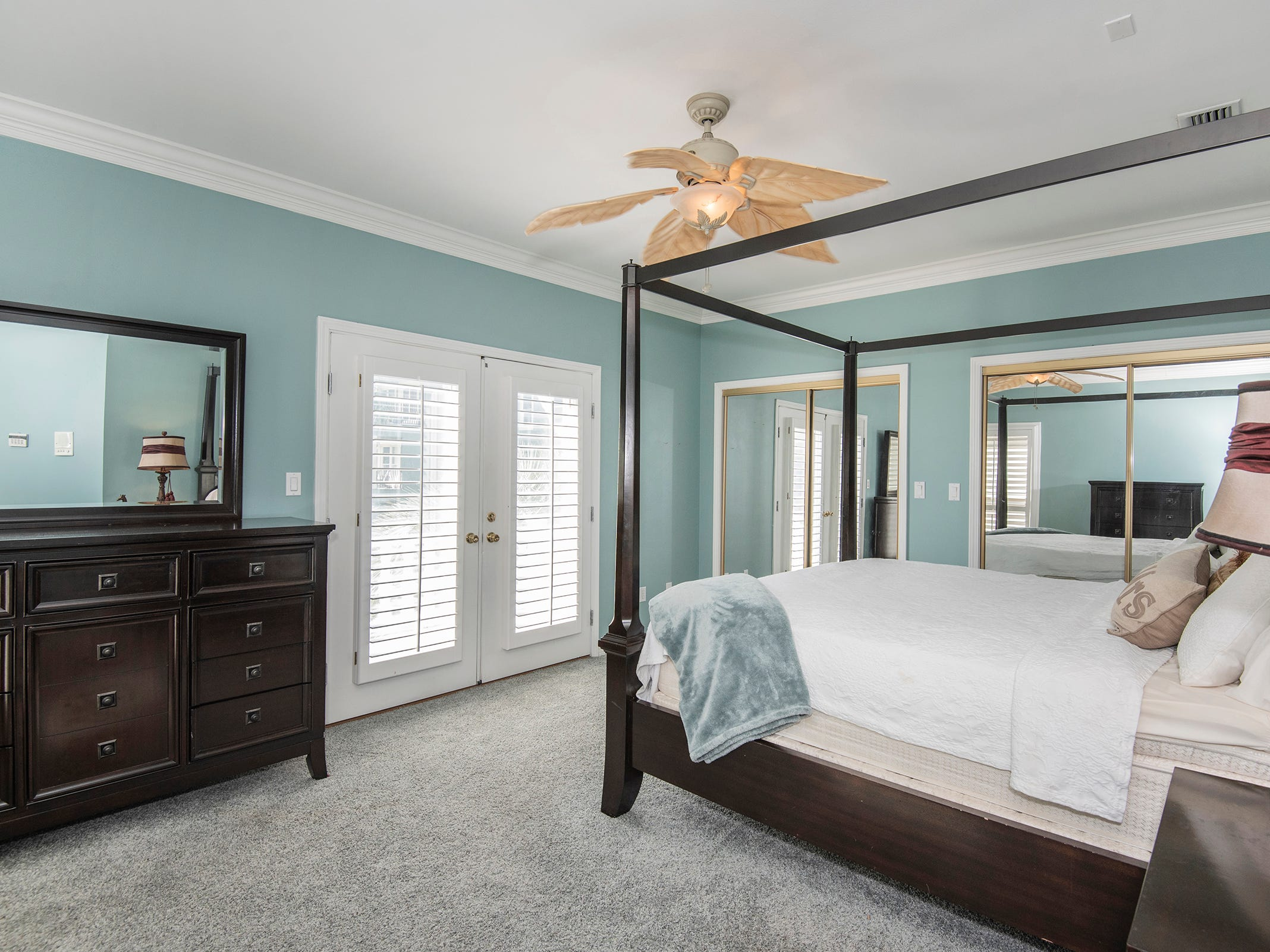 1 La Caribe Dr.The master suite features balcony access.