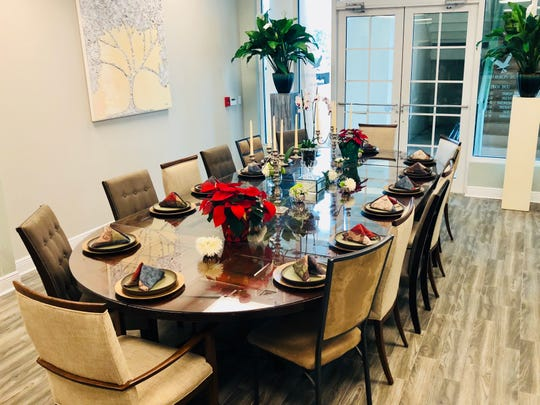 One of the most defining features of the Island Epicurean Food Co. on Perdido Key is a dining room table that can seat up to 14 people.
