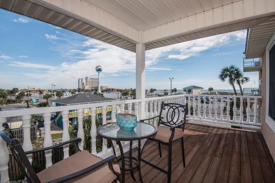 1 La Caribe Dr.The beach-front balcony.