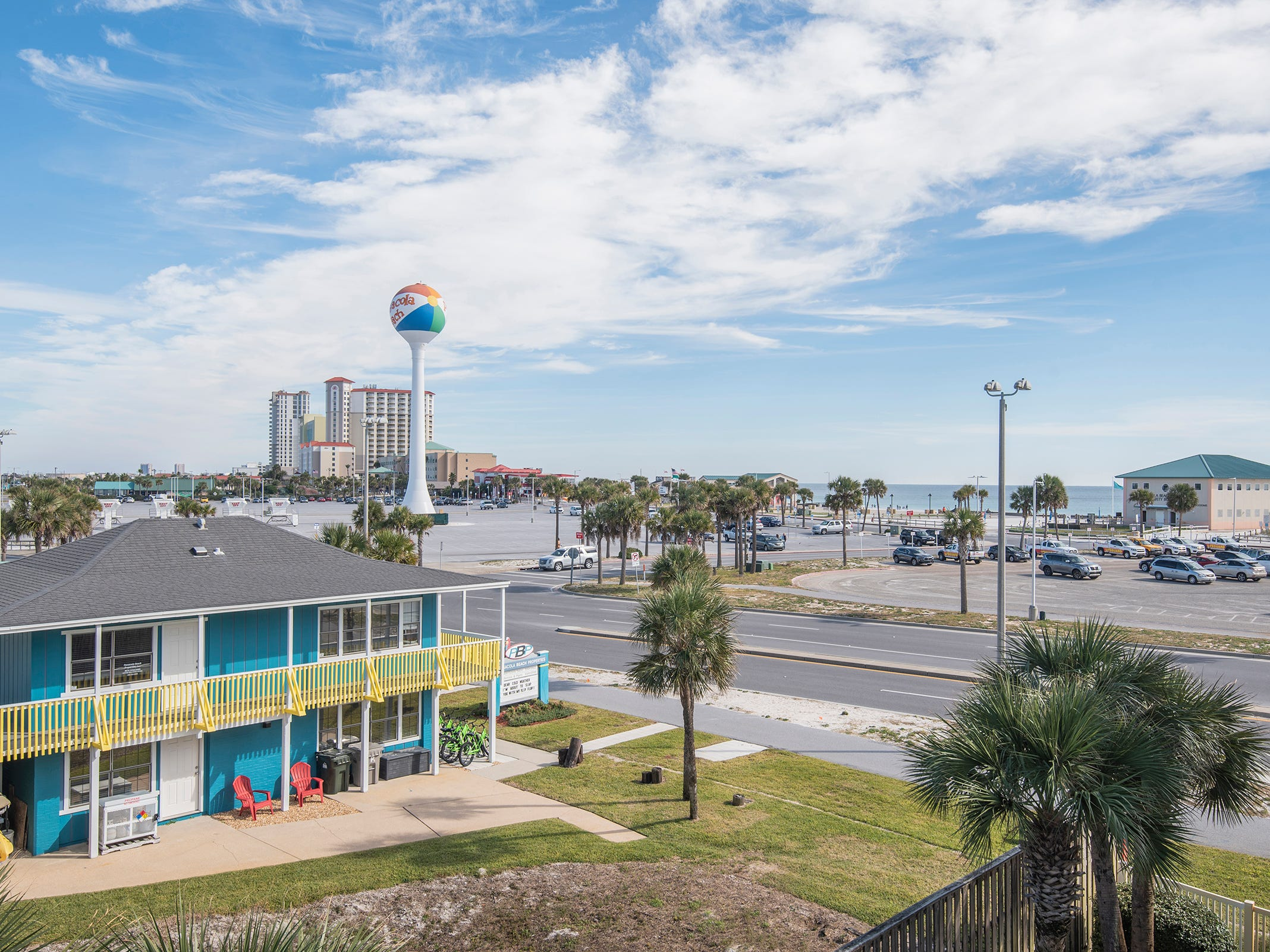 1 La Caribe Dr.Enjoy views of Pensacola Beach and a front row seat for Blue Angels air shows.