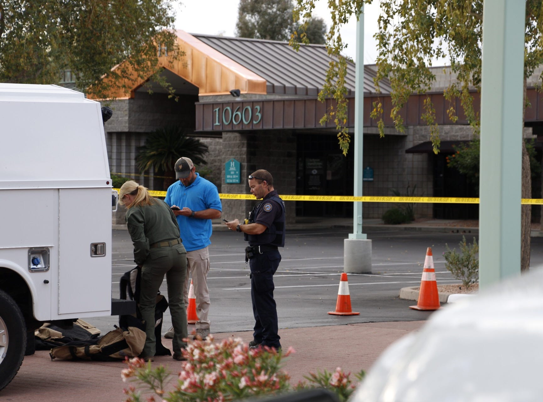 Scottsdale authorities investigate a suspicious package at Rep. David Schweikert's office in Scottsdale.