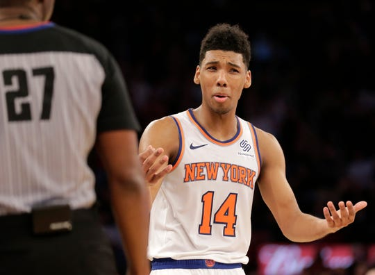 New York Knicks rookie guard Allonzo Trier is on a two-way contract and will need a new NBA contract soon to stay on the roster. How the team handles Trier's contract is one of several questions it's facing after 25 games.