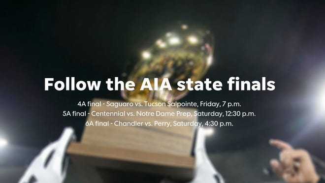 Live updates for the big-school state finals in Arizona high school football.