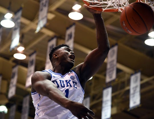 How would Duke Blue Devils forward Zion Williamson look in a Phoenix Suns uniform?