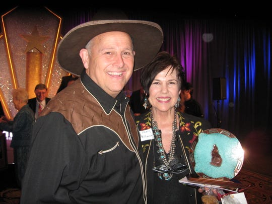 Big Jim and Sweet Mary Robson, owners of Rockin R Ranch, were one of two businesses given the 2009 Tourism Award by the Mesa Convention & Visitors Bureau.