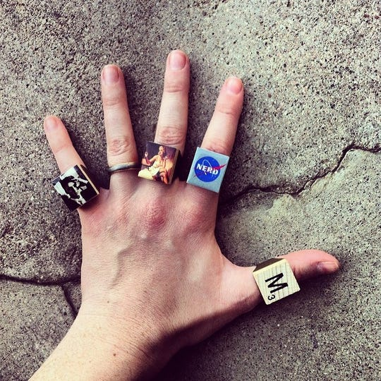 Rings by Star De Luna at Made Art Boutique in Phoenix.