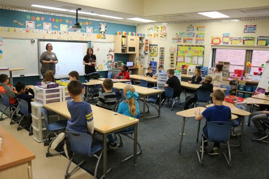 Second grade students at Bataan Primary got a lesson on aging as they prepare for future monthly visits to nursing homes.