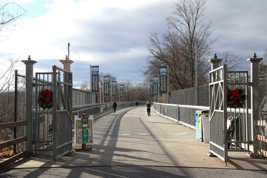 The entrance to the Walkway Over the Hudson State Park in the City of Poughkeepsie on November 29, 2018.