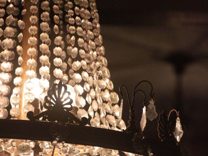 This chandelier is one of many historic features of Chambersburg's Capitol Theatre.