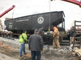 The old coal car that had a home in the new Franklin County parking lot off Hood Street, Chambersburg, has been moved to a new spot near the old steam plant at Shippensburg University. The move is a part of the Cumberland Valley Rail-to-Trails Council project to to place a piece of history along a p