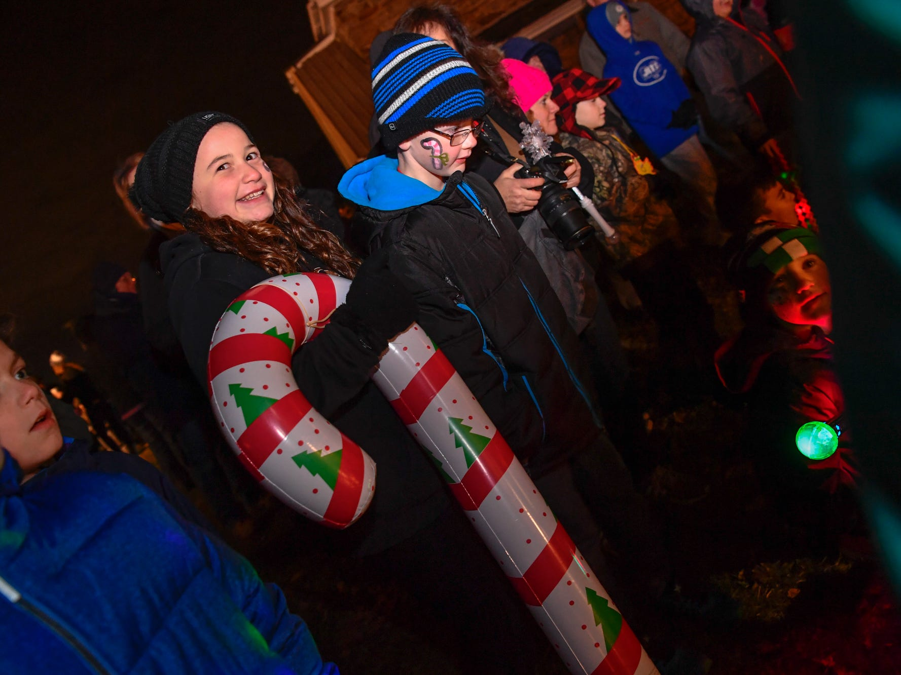 Hundreds attend the 3rd annual Christmas tree lighting in Spring Grove, Thursday, November 29, 2018. 
