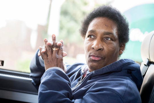 Loretta Claiborne, a Special Olympics gold medalist, public speaker and the winner of the 1996 Arthur Ashe ESPY Courage Award, waits on the bus prior to filming of an ESPN documentary, Thursday, Nov. 29, 2018. ESPN and Special Olympics have partnered to do a documentary on 50 athletes to celebrate 50 years of Special Olympics. The documentary on Claiborne will air in Dec. 2018.
