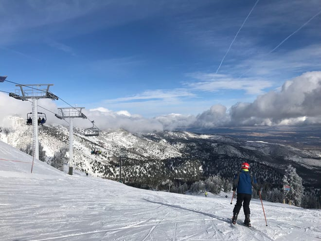A photo showing snow covering the top of Mt. Rose on Nov. 30, 2018.