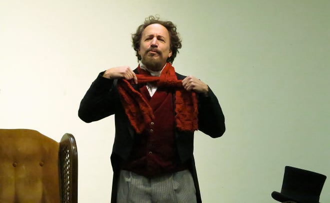"""Bennett Gale takes on 20 characters in his one-man show """"Scrooge: An Evening with Charles Dickens."""" Performances are Friday and Saturday at Old City Hall."""