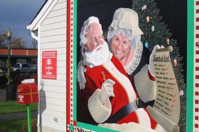 Santa's special mailbox in Silverton.
