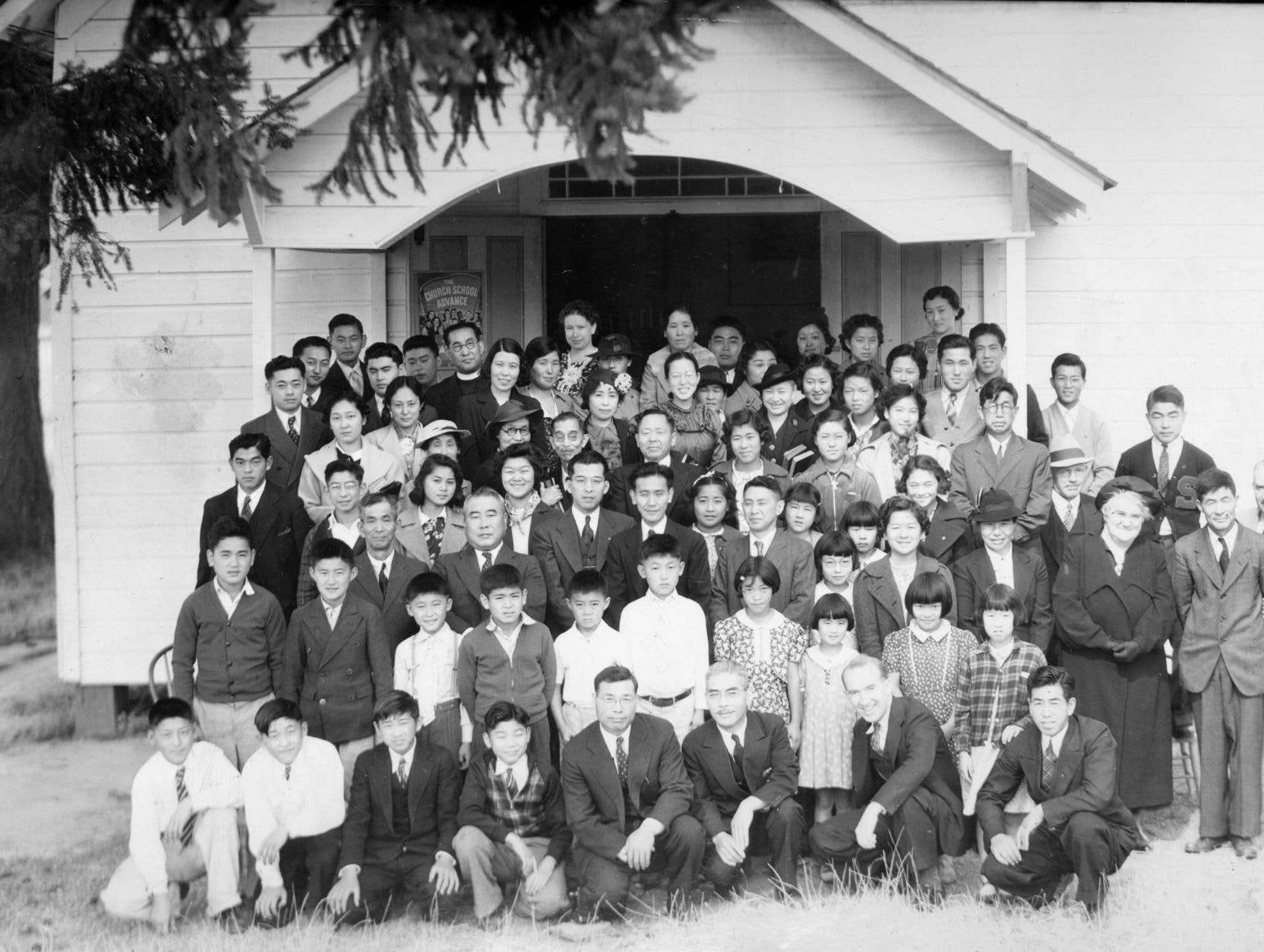 A defining moment in Dr. Glenn A. Olds' career came on the night of the Dec. 7, 1941 attack on Pearl Harbor. He and a small group of clergymen helped protect the Japanese Community Church, pictured here in 1938, from a angry mob.