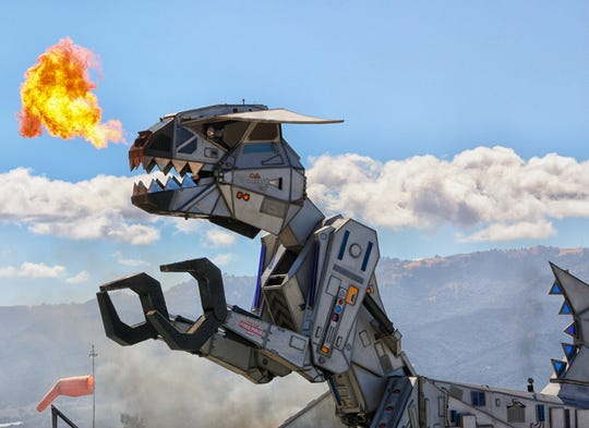 After a very long absence, Robosaurus will be back at the California International Airshow March 23 and 24.