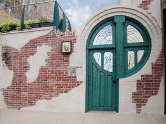 The signature green door of 714 Lofts, 714 Austin Ave. in Waco has become a photo spot for proms, developer Steve Sorrells said.